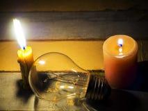 Aucune électricité ne rend le matériel électrique inutile Photographie stock