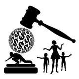 Aucune évasion de pension alimentaire illustration libre de droits