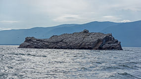 Aucune île nommée, lac Baikal Photographie stock