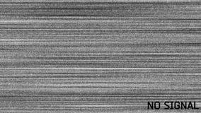 Aucune animation d'interférence d'écran du signal TV, mauvaise aucune image de qualité de signal, écran de connexion mauvaise, au banque de vidéos