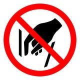 Aucune atteinte dans le signe de symbole, illustration de vecteur, isolat sur le label blanc de fond EPS10 illustration libre de droits