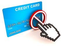 Aucune carte de crédit en ligne illustration libre de droits