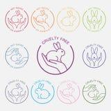 Aucune conception d'icône d'expérimentation animale Images libres de droits