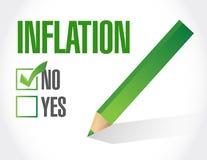 aucune conception d'illustration de concept de signe d'inflation illustration libre de droits