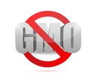 Aucune conception d'illustration de signe d'OGM Photo libre de droits