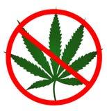 Aucune couleur verte de feuille de cannabis Images stock