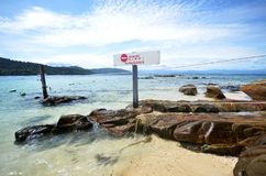 Aucune entrée ne se connectent la plage Images libres de droits
