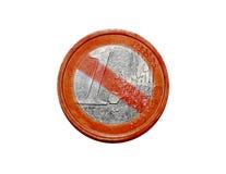 Aucune euro pièce de monnaie Images libres de droits