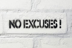 Aucune excuses Photo stock