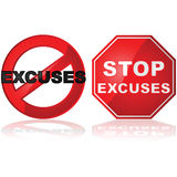 Aucune excuses Images stock