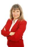 Aucune femme d'affaires de contrôle par totalisation Photographie stock