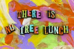 Aucune fraude professionnelle d'escroquerie de don de déjeuner de victoire libre de substance photographie stock