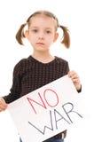 Aucune guerre Image libre de droits