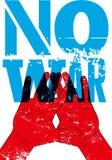 Aucune guerre Rétro affiche grunge typographique de paix Illustration de vecteur Photographie stock