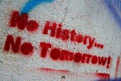 Aucune histoire? aucune demain ! Image stock