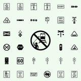aucune icône de selfie Ensemble universel d'icônes ferroviaires d'avertissements pour le Web et le mobile illustration de vecteur