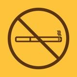 Aucune icône de fumée Cessez de fumer le symbole Vecteur Photos stock