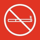 Aucune icône de fumée Cessez de fumer le symbole Vecteur Photo libre de droits