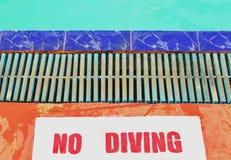 Aucune instructions de plongée Photo libre de droits