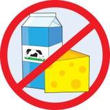 Aucune laiterie illustration stock