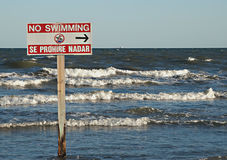 Aucune natation Photo stock