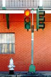 Aucune pièce d'errer Redlight Photographie stock libre de droits