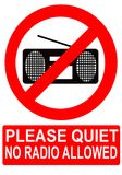 Aucune radio permise Photos libres de droits