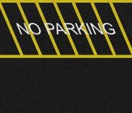 Aucune zone de stationnement Photo libre de droits