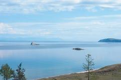 Aucunes îles nommées, lac Baikal Image libre de droits