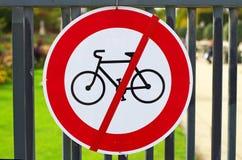 Aucunes bicyclettes Photo stock