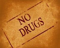 Aucunes drogues Image stock