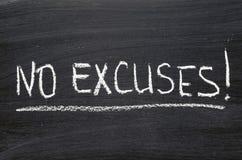Aucunes excuses Photo stock