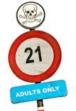 Aucuns adultes permis le signe Image libre de droits
