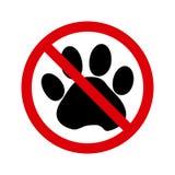 Aucuns animaux familiers permis le signe Vecteur illustration libre de droits