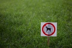 Aucuns crabots permis le signe Photo stock
