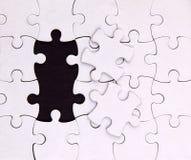 Aucuns deux éléments, blanc, puzzle Photos stock