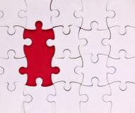 Aucuns deux éléments, blanc, puzzle Photographie stock libre de droits