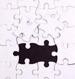 Aucuns deux éléments, blanc, puzzle Images libres de droits