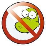 Aucuns germes permis Photos stock