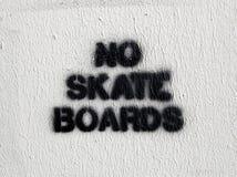 Aucuns panneaux de patin Photo libre de droits