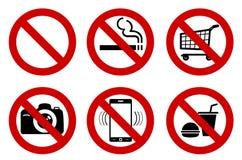 Aucuns signes Photo libre de droits