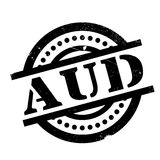 AUD rubber stamp Stock Photography