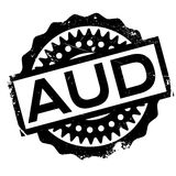 AUD rubber stamp Royalty Free Stock Images