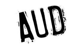 AUD rubber stamp Royalty Free Stock Photography