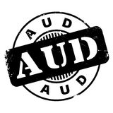 AUD rubber stamp Stock Photos