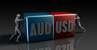 AUD USD Currency Pair Royalty Free Stock Photo
