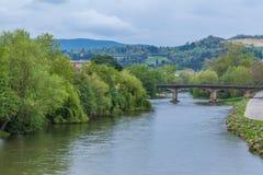 Aude flod Royaltyfria Bilder