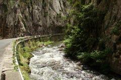 Aude-Fluss in Frankreich stockbild