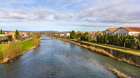 The Aude river in Carcassonne Royalty Free Stock Photo
