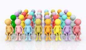 Audiência com figuras 3D ilustração royalty free